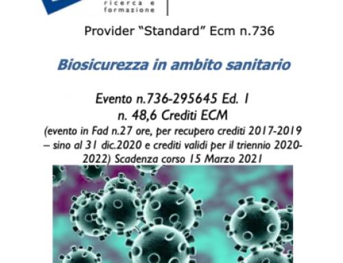Corso ECM Biosicurezza in Ambito Sanitario