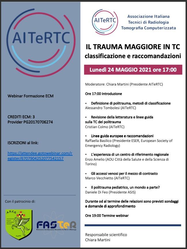 Corso di Formazione ECM: IL TRAUMA MAGGIORE IN TC
